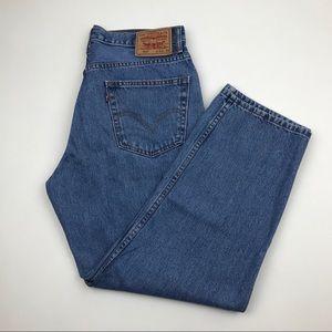 Vintage LEVI'S 550 High Waist Jeans Sz 32 Re/Done